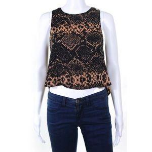 Amanda Uprichard open cowl back blouse size P